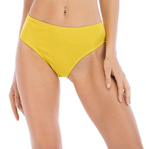 Polkra Women Retro High Waisted Cut Bikini Bottom