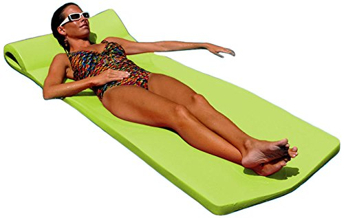 Texas Recreation Sunsation Swimming Foam Pool Floating Mattress, Lime, 1.75