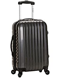 Rockland Luggage Melbourne 20 Inch Expandable Carry On, Carbon