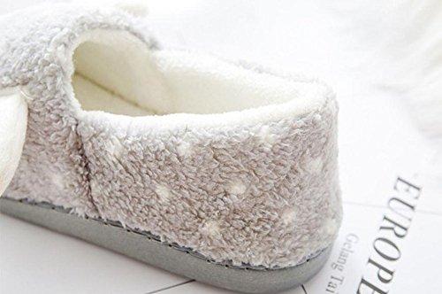 CAOLATOR Chaussons Femmes 37 Confortable Dérapant Coton Hiver 40 Cadeau Peluche 41 Anti Épaisse Adulte Chaussures Chaud Gris Maison Doublure 36 Femme rwrW5PSqxC