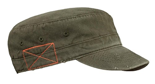 MG Distressed Washed Cotton Cadet Army Cap - - Hat Army Fidel