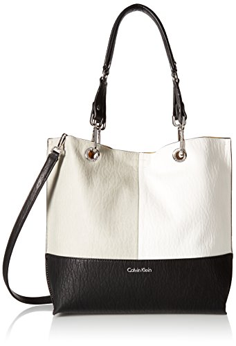 Calvin Klein Sonoma Faux Leather Reversible Novelty North/South Tote, Black Combo