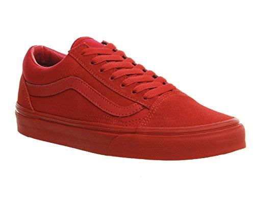 Vans Old Skool Mte, Zapatillas Unisex Adulto Red Mono Exclusive