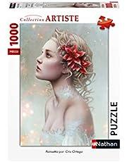 Nathan Puzzel 1000 stukjes Poinsettia/Cris Ortega volwassenen, 4005556876280