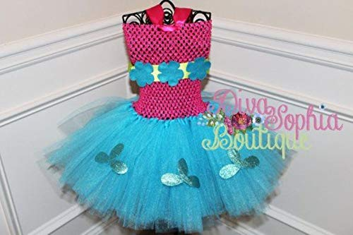 Trolls Tutu Dress - Princess Poppy Tutu Dress