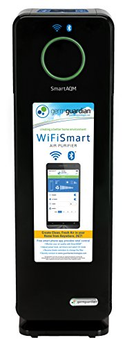 GermGuardian-CDAP4500BCA-WiFi-Smart-4-in-1-Air-Cleaning-System-with-SmartAQM-Air-Quality-Monitor-Works-with-Alexa-True-HEPA-Filter-UV-C-Sanitizer-Allergen-and-Odor-Reduction-22-inch-Air-Purifier