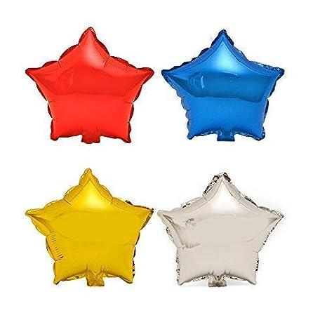 """TRIXES Paquete de 5 Globos de 18/"""" Estrellas en Oro Helio Met/álico Celebraci/ón de Fiestas Decoraci/ón Festiva de Mesa"""