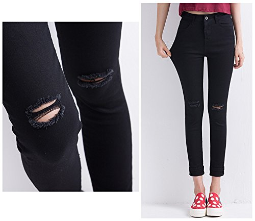 Amazon.com: Culturemart Women Ripped Jeans Female Skinny ...