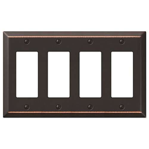 Rocker Light Switch Cover (Four GFCI Rocker Wall Switch Plate - Oil Rubbed Bronze)