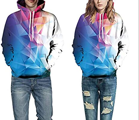 Mens Digital 3D Print Sweatshirts Hooded Fashion Flame Pattern Hoodie