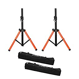 Audio 2000s Short Heavy Duty Speaker Stand with Canvas Carrying Bag AST439A (Pair)