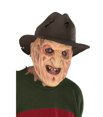 Rubie's Costume A Nightmare On Elm Street Latex Freddy Mask with Attached Hat, Brown, One Size ()