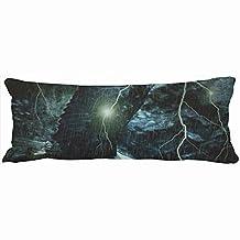 Decorative Body Pillows Thunder Storm Lightning Wildlife Brave Bold Eagle Poster Unique Design Home Decor Pillow Case Cover 20-Inch x 54-Inch Custom Sofa Cotton Cushion Pillowcases