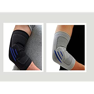 Elbow Brace Compression Sleeve - Elastic Support best for Tennis Elbow, Tendonitis Pain, Golfer's Elbow, Bursitis, Arthritis, Basketball, Golf, Lifting- Men& Women