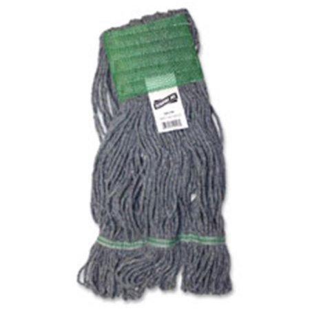 Genuine Joe Earth Mop Mophead Refill, Polyester, Large, Blue