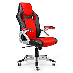 Overdrive Premium Executive Racing Office Chair, Black/Red B