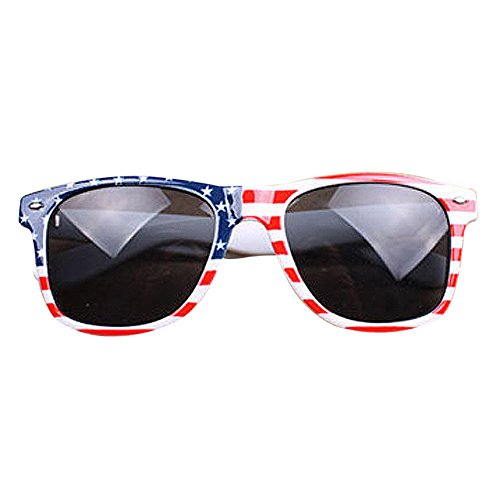 2017 Hot sales! ZOMUSA Vintage Square Sunglasses,Women/Man Novelty Mosaic American /British Patriotic Flag Sun Glasses (A, - 2017 Sunglasses Hot