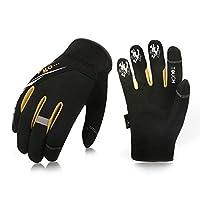 Vgo 3Pairs High Dexterity Light Duty Mechanic Glove,Rigger Glove,Anti-abrasion,Touchscreen(Black, SL8853)