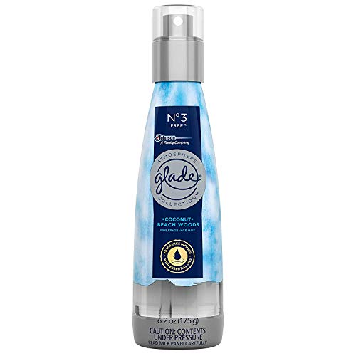 Glade Fine Fragrance Mist NO 3 Free Coconut and Beach Woods, 6.2 OZ (Pack - 3) ()