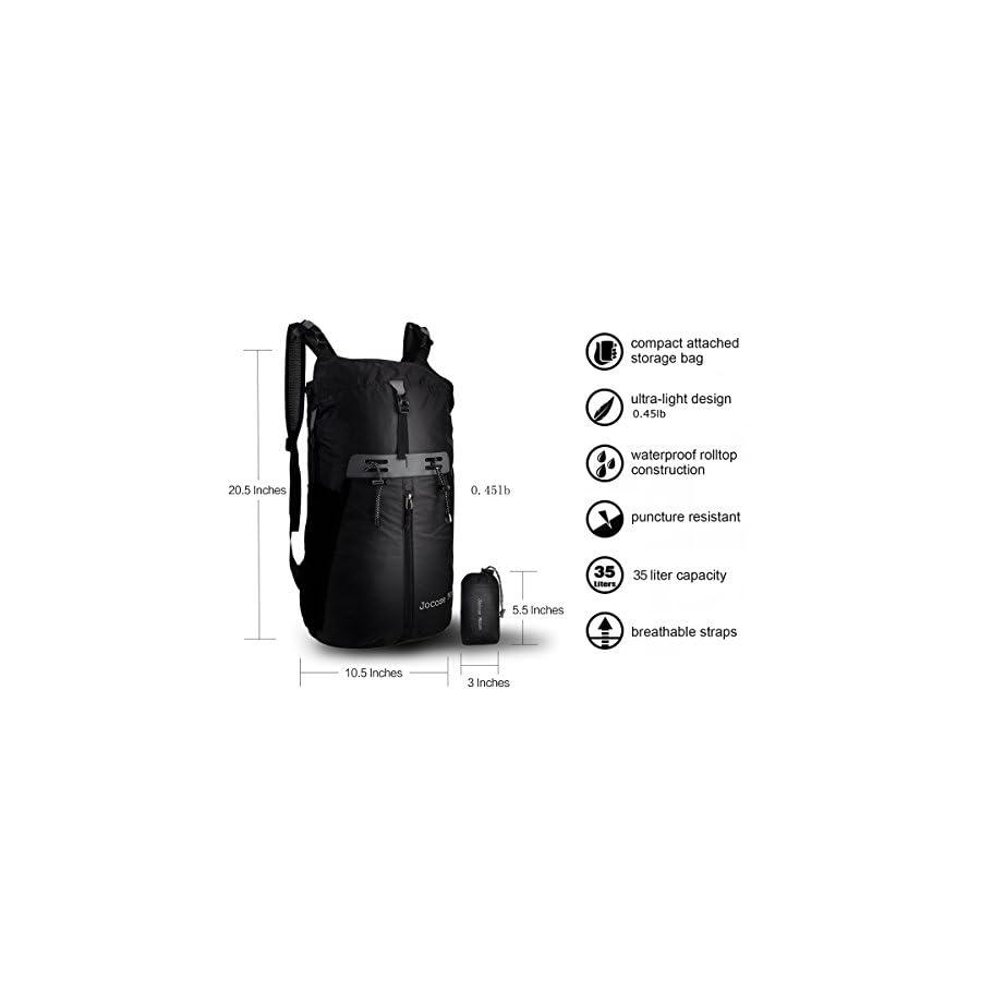 Jocose Moose 35L Waterproof Travel Hiking Backpack Lightweight Trekking Foldable Packable Daypack for Men Women