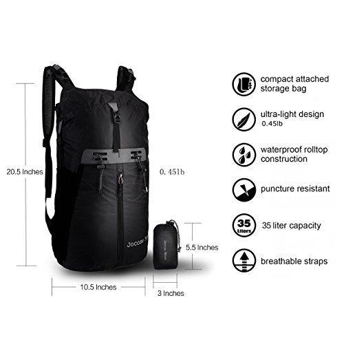 35L Waterproof Travel Hiking Backpack Lightweight Trekking Foldable Packable Daypack for Men Women