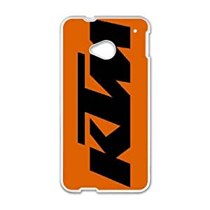 HTC One M7 Cell Phone Case White Ktm Racing Logo Custom Case Cover A11A562226