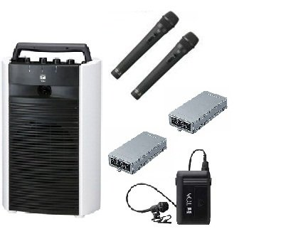 TOA 800MHz帯デジタルワイヤレスアンプ/CD付/ダイバシティ  WA-2800CD+WTU-1820X2+WM-1220X2+WM-1320   B015GX6X2O