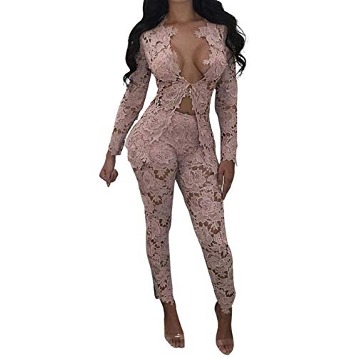 Piece Red Two Jumpsuit Elegant Black White Wine Lace Floral xwY78X