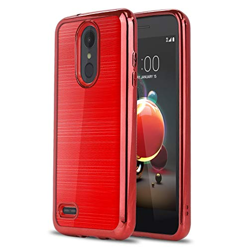Phone Case for [LG Phoenix 4 / LG Phoenix 3 (AT&T)], [Chrome Series][Red] Shockproof Soft TPU Rubber [Electroplated Bumper] Cover for LG Phoenix 3 & LG Phoenix 4 (AT&T) (Red)