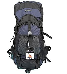 55L Unisex Outdoor Sports Rucksack Backpack (Dark Blue)