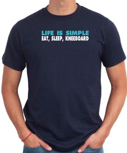 LIFE IS SIMPLE EAT, SLEEP, Kneeboarding Men T-Shirt