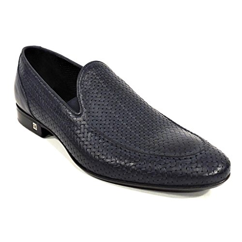 Men's Slip-On Blue Nabuk Leather Loafer