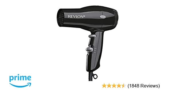amazon com: revlon 1875w compact & lightweight hair dryer, black: appliances