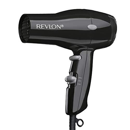 Revlon 1875W Compact & Lightweight Hair Dryer, Black (Super Mini Travel Hair Dryer)