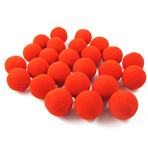 25pcs Sponge Clown Nose Funny Clown Accessories Stage Props for Party Costume Balls