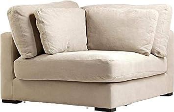 Groovy Amazon Com Sofa Dovetail Hughes Corner Birch Wood Legs Pdpeps Interior Chair Design Pdpepsorg