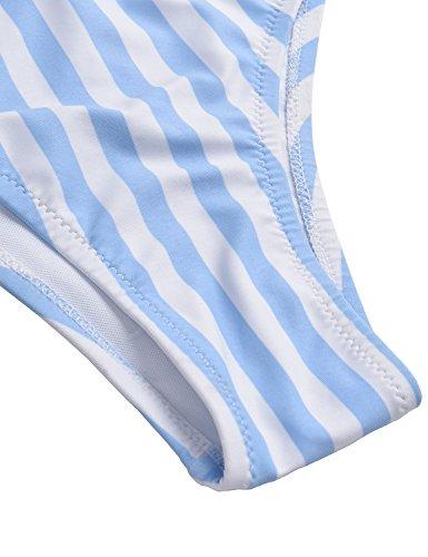 6aa7a257355 BMJL Women's Sexy Detachable Padded Cutout Push up Striped Bikini Set Bow  Tie Two Piece Swimsuit