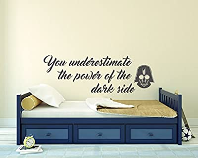 You Underestimate The Power Of The Dark Side -- Darth Vader- star Wars- Reflections Theme Quotes - Wall Decal For Home Bedroom Living Room
