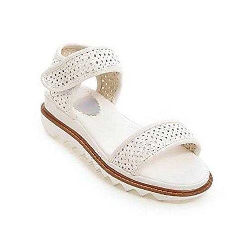 AN Womens Travel Studded Cold Lining Urethane Platforms Sandals DIU01014 White jdD2yBn3