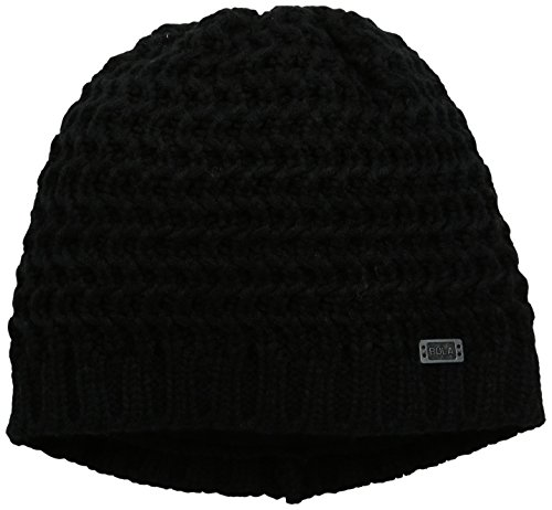 Bula Black Beanie (BULA Women's Fishbone Beanie, Black, One Size)