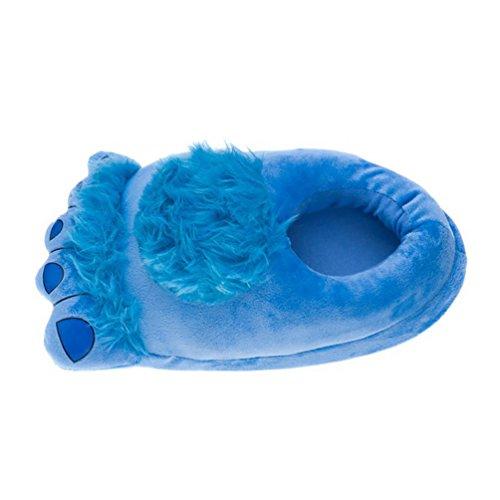 YOUJIA Mujer/Hombre Unisex Felpa Zapatillas de Estar en casa , Cómodo Pies Pantuflas Zapatos de Invierno - Tamaño: 34-43 Azul