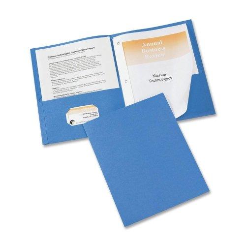 Wholesale CASE of 15 - Avery 2-Pocket Folders w/ Fasteners-2-Pocket Fldr w/3-Prong Fstnr, Ltr, 20 Sht Cap., 25/BX, LBE