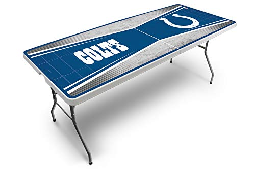 - PROLINE NFL Indianapolis Colts 2.5' x 6' Folding Plastic Tailgate Table