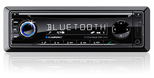 Blaupunkt 1011402220001 Stockholm 230 Kfz-Radio (DAB+/DAB, Bluetooth 2.0, USB) inkl. DAB Antenne