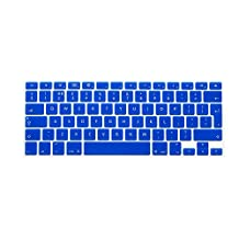 """HRH Blue EU/UK Keyboard Cover Silicone Skin for MacBook Air 13 and MacBook Pro 13"""" 15"""" 17"""" (with or w/out Retina,Not Fit 2016 Macbook Pro 13 15 with/without Touch Bar)"""