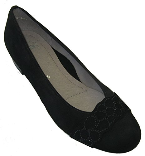 Ara Womens L.Ballerina Black Size 38.5 M EU/5.5 F(M) UK/8 2A(N) US