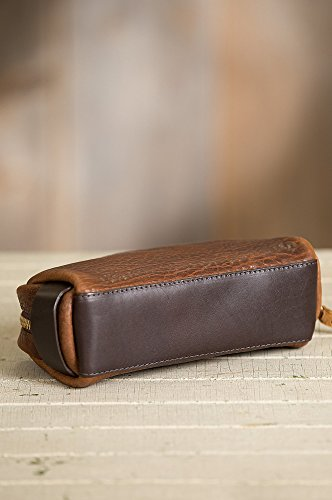 American Bison Leather Medium Travel Kit by Overland Sheepskin Co (Image #4)