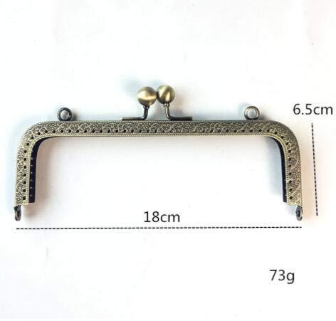 Buckes - 10pcs 8.5cm 10.5cm 12.5cm 15cm 18cm 20cm Metal Buckle for Bag DIY Handmade Metal Purse Frame with Kiss Lock Wedding Clutch Frame - (Color: 180mm)