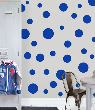 (Create-A-Mural Polka Dot Wall Stickers, Wall Decor Stickers, Wall Dots, Vinyl Circle Room Dot Decals)