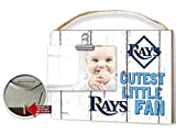 """KH Sports Fan 10""""x 8"""" Tampa Bay Rays Clip It Weathered Baby Logo Photo Frame"""